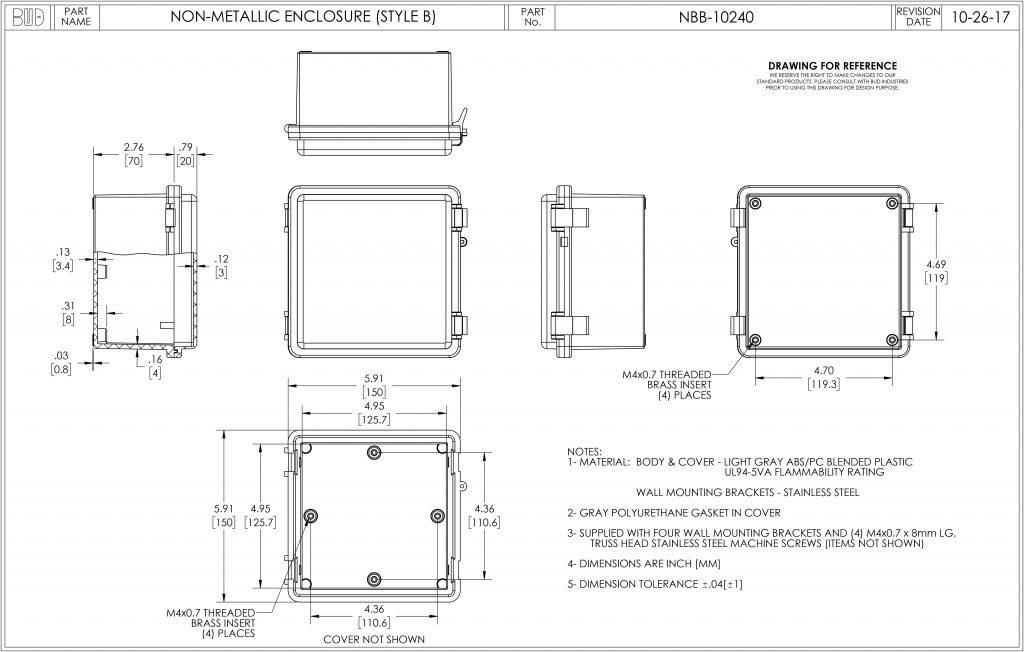 NBB-15260 Dimensions