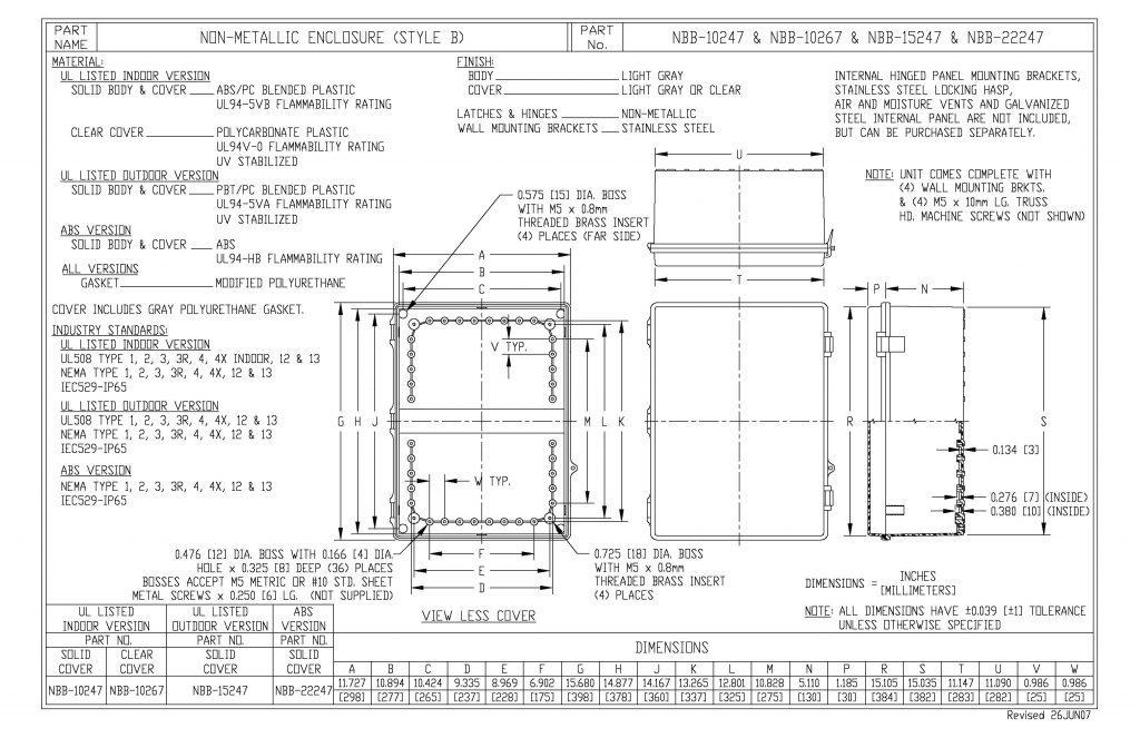NBB-15247 Dimensions