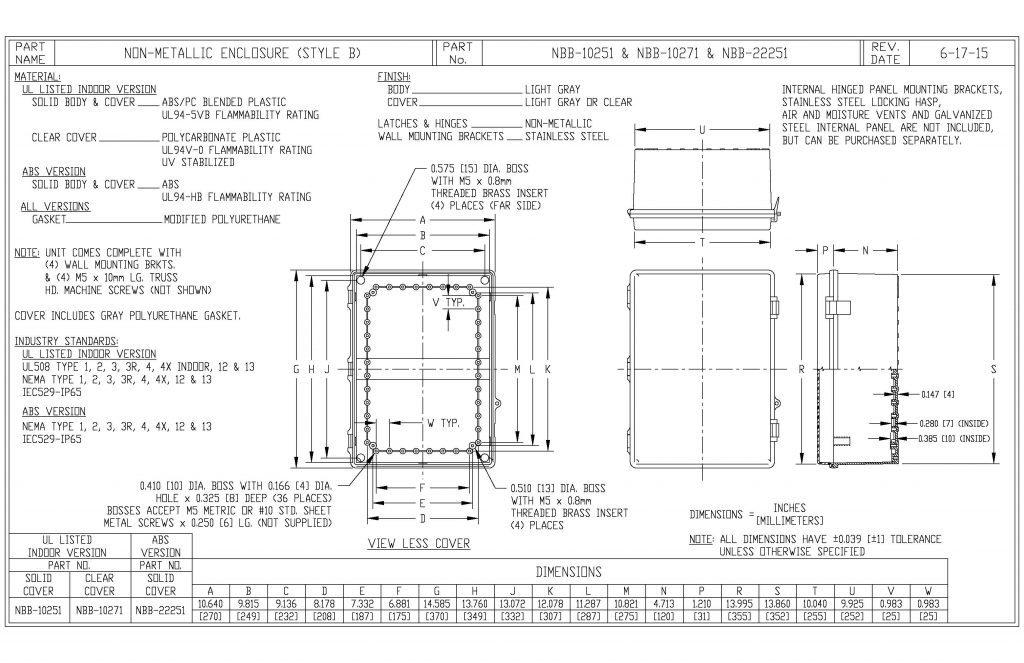 NBB-10251 Dimensions