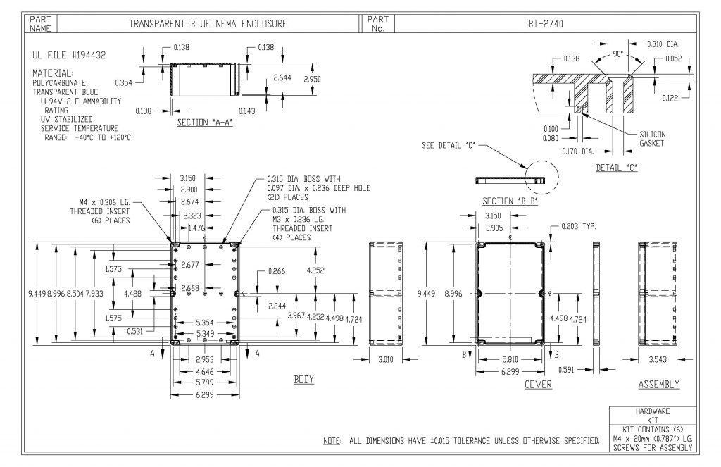 BT-2740 Dimensions