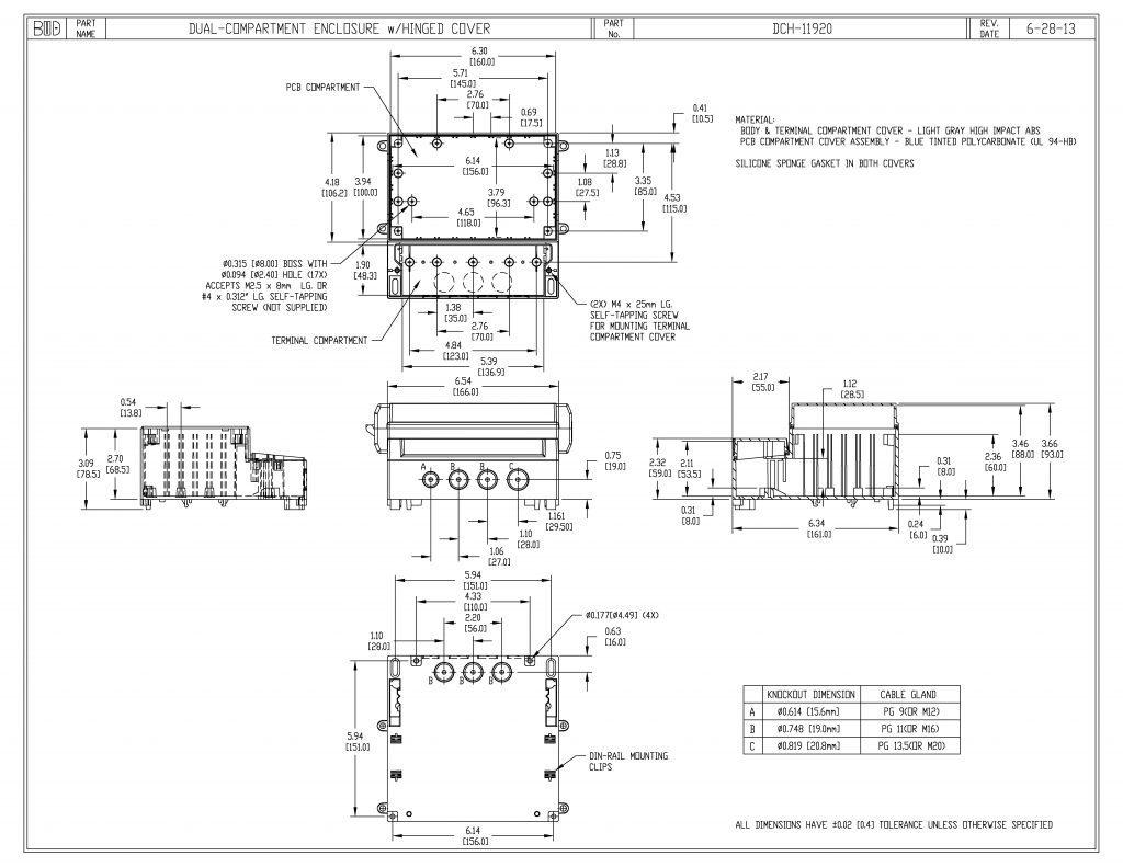 DCH-11920 Dimensions