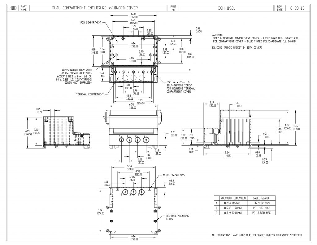 DCH-11921 Dimensions