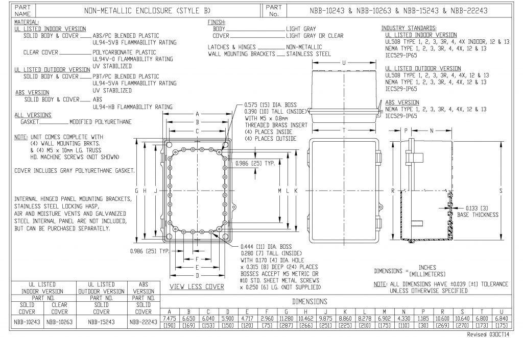 NBB-22243 Dimensions