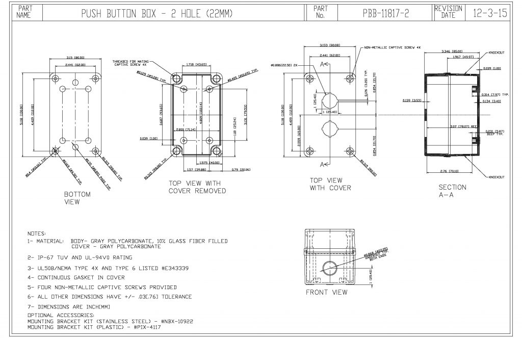 PBB-11817-2 Dimensions