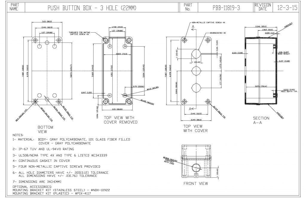 PBB-11819-3 Dimensions