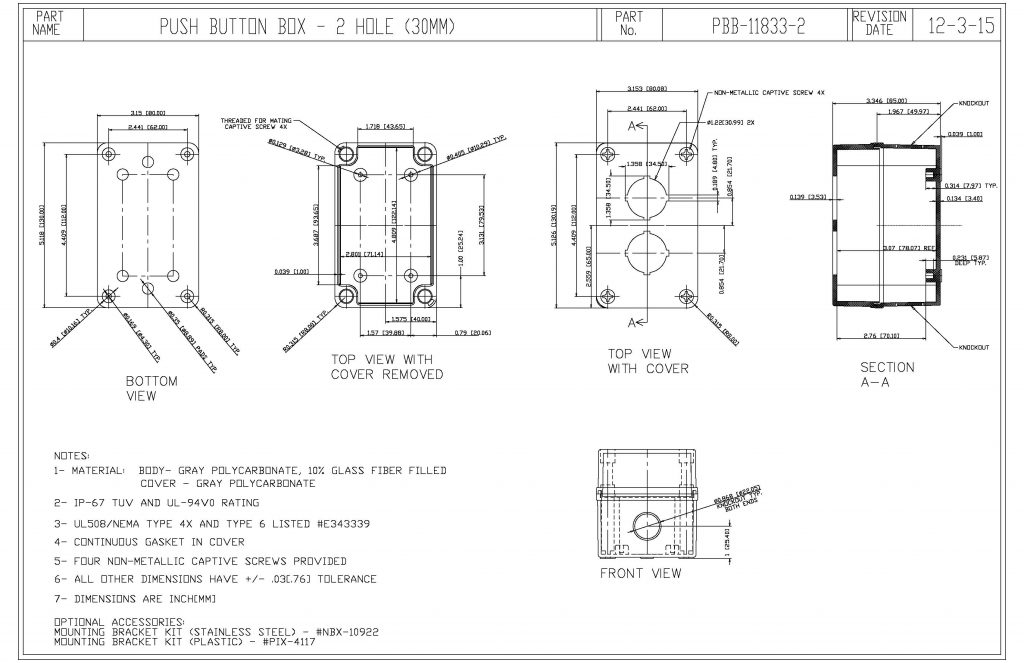 PBB-11833-2 Dimensions
