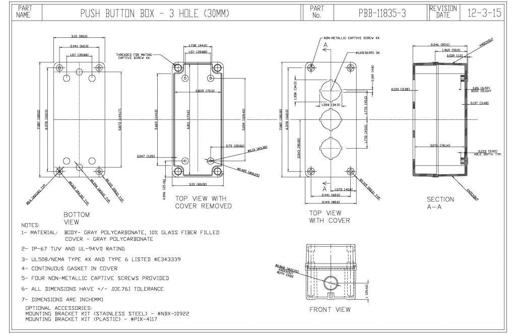 PBB-11835-3 Dimensions