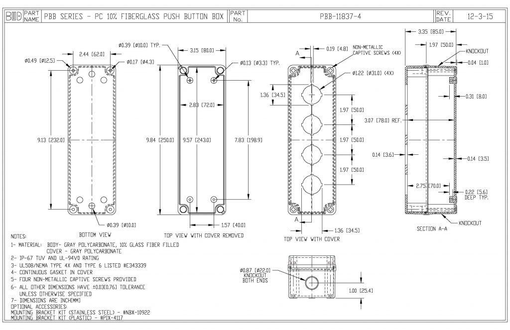 PBB-11837-4 Dimensions
