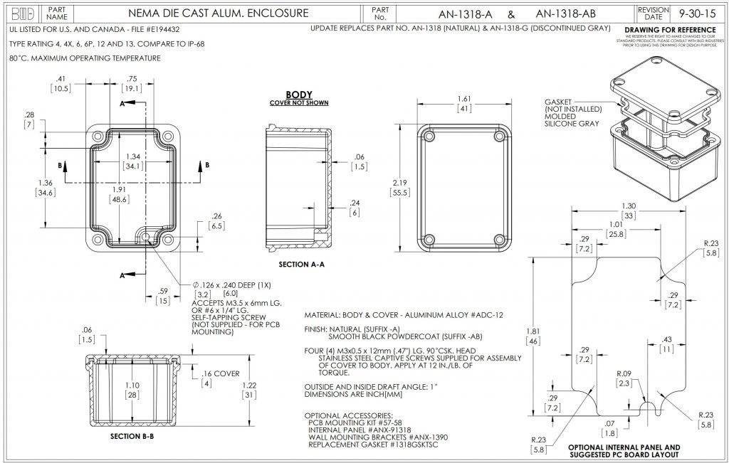 AN-1318-A Dimensions