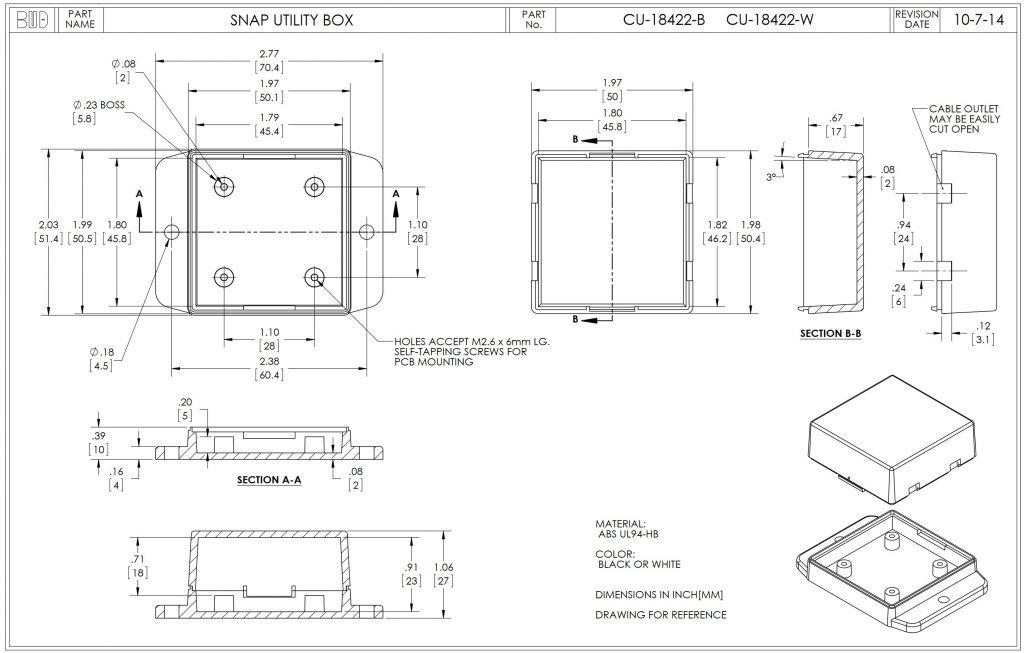 CU-18422-B Dimensions