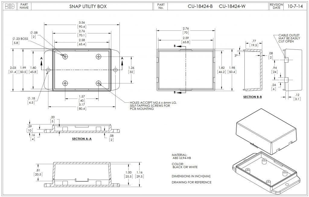 CU-18424-W Dimensions