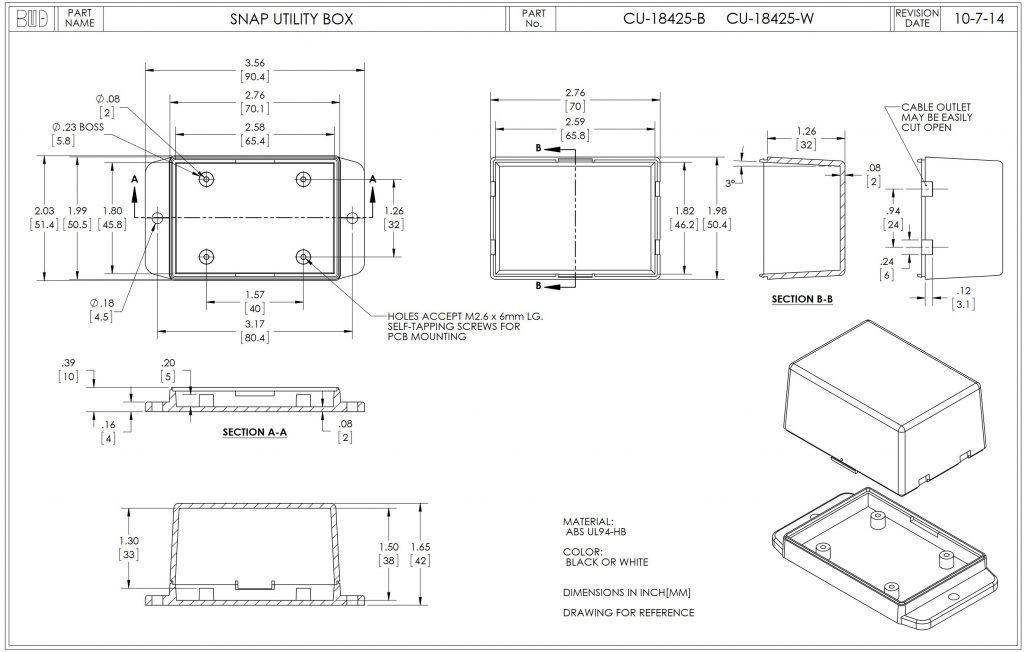 CU-18425-B Dimensions