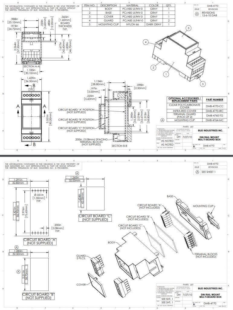 DMB-4770 Dimensions