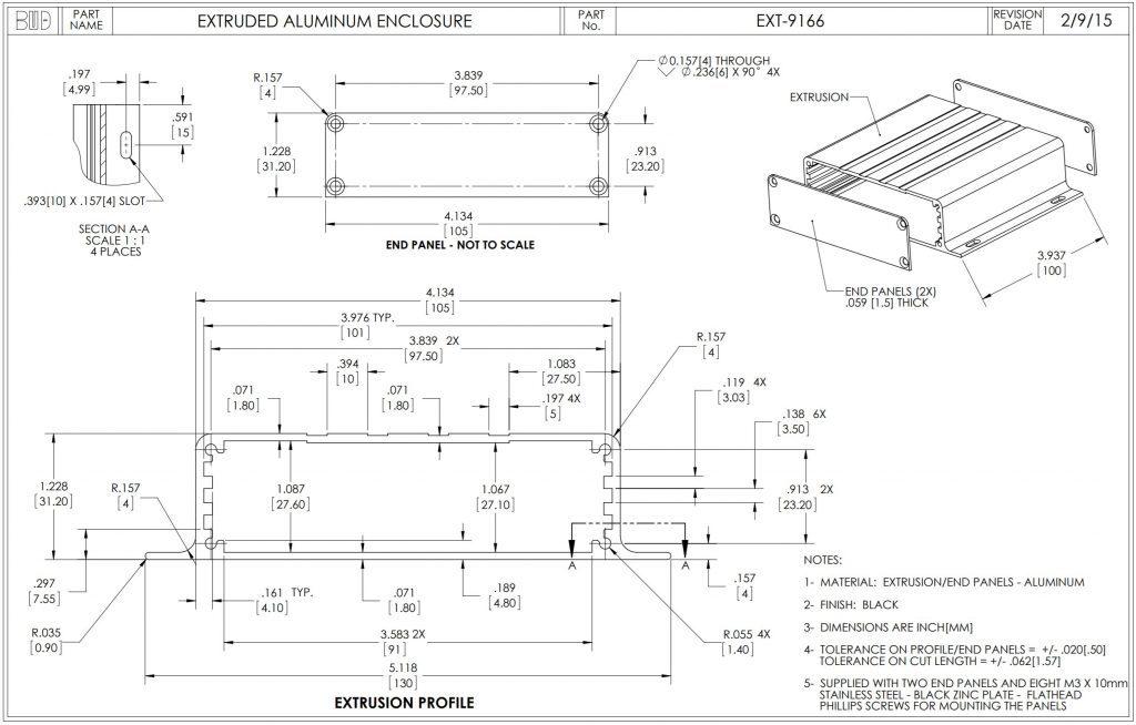 EXT-9166 Dimensions