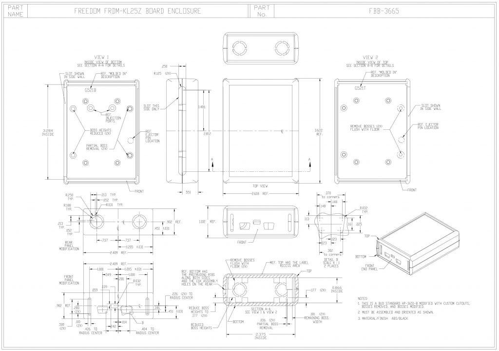 FBB-3665 Dimensions