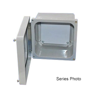 Fiberglass Enclosure with Hinged Screw-Down Cover