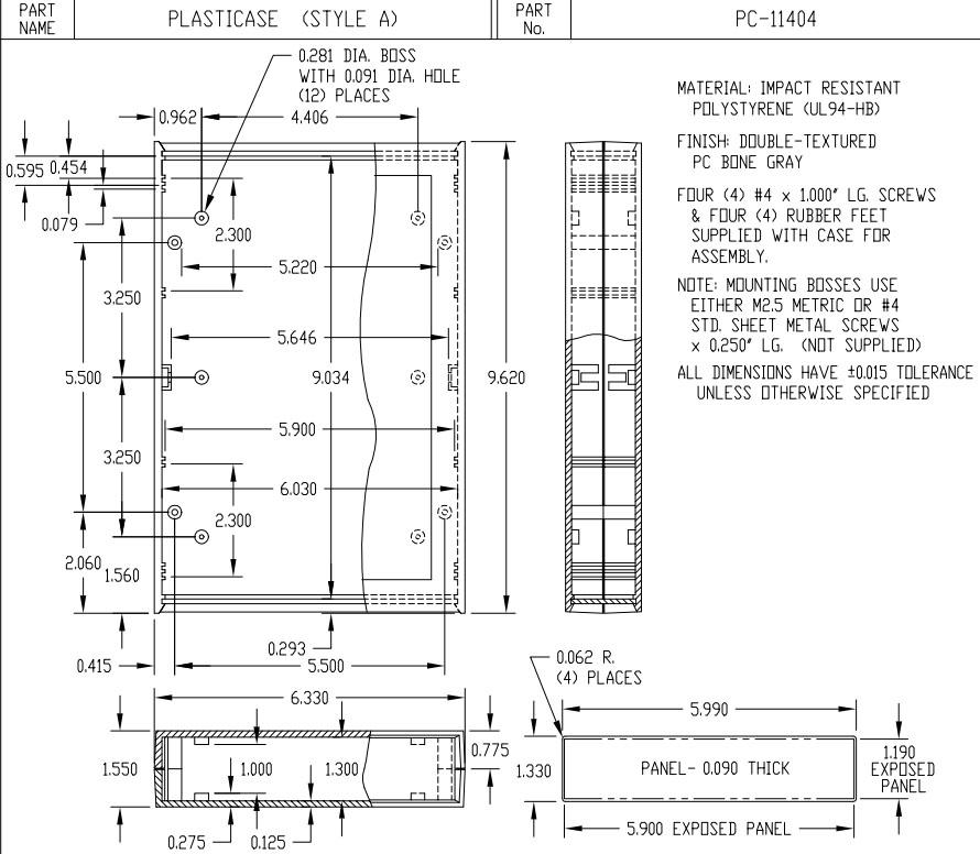 PC-11404 Dimensions