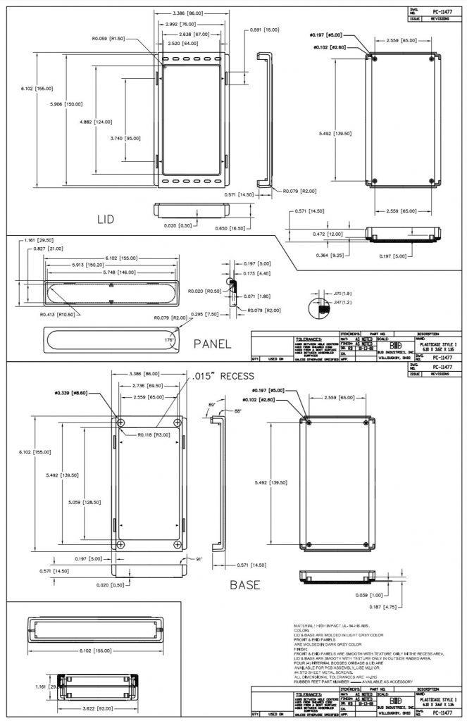 PC-11477 Dimensions