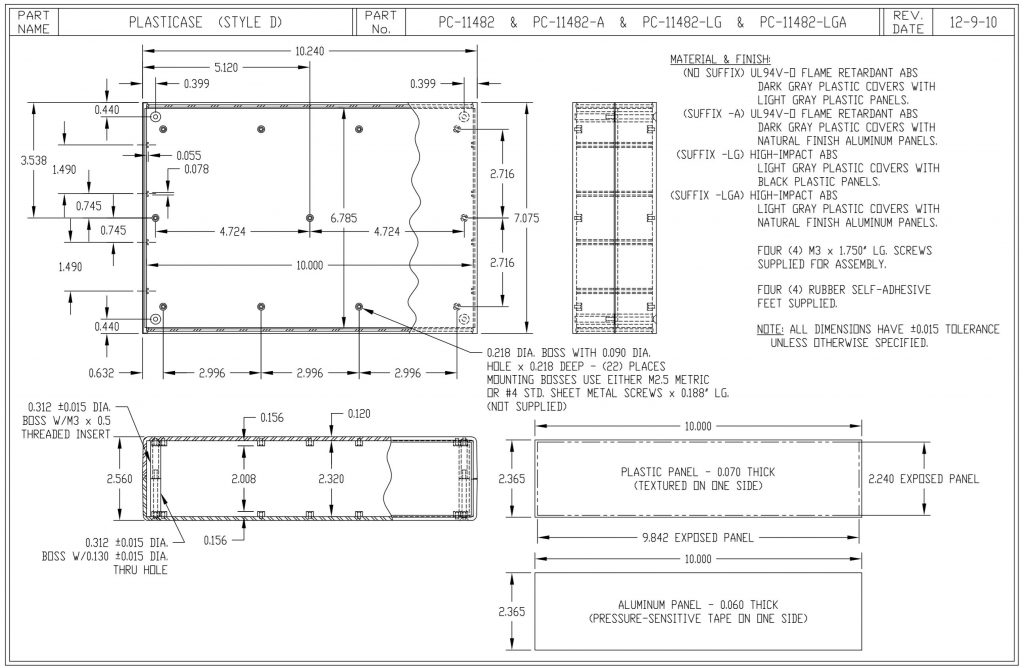 PC-11482-LGA Dimensions