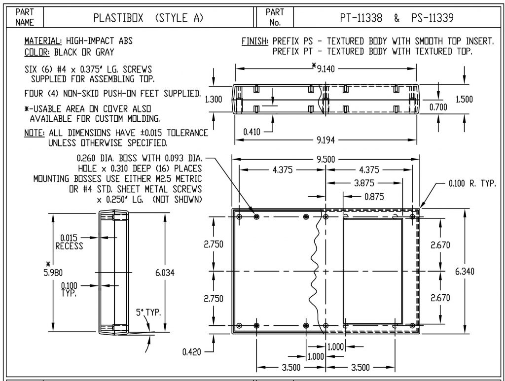 PS-11339-G Dimensions