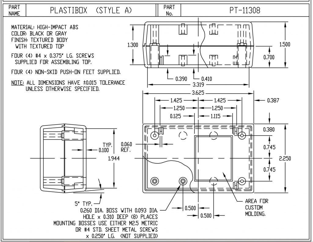 PT-11372-G Dimensions