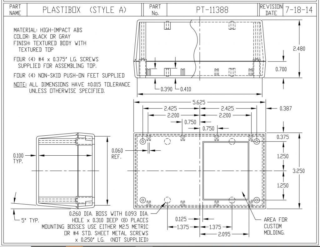 PT-11388-B Dimensions