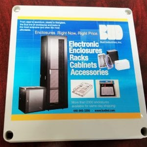 Bud Provides High Quality Digital Printing for Modified Electronic  Enclosures