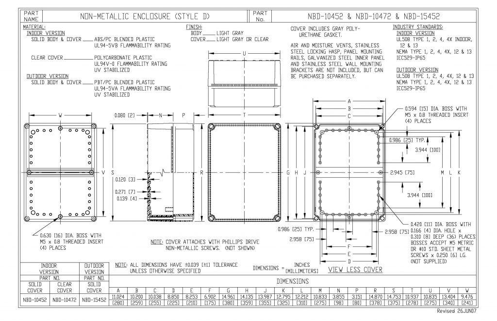 NBD-10472 Dimensions