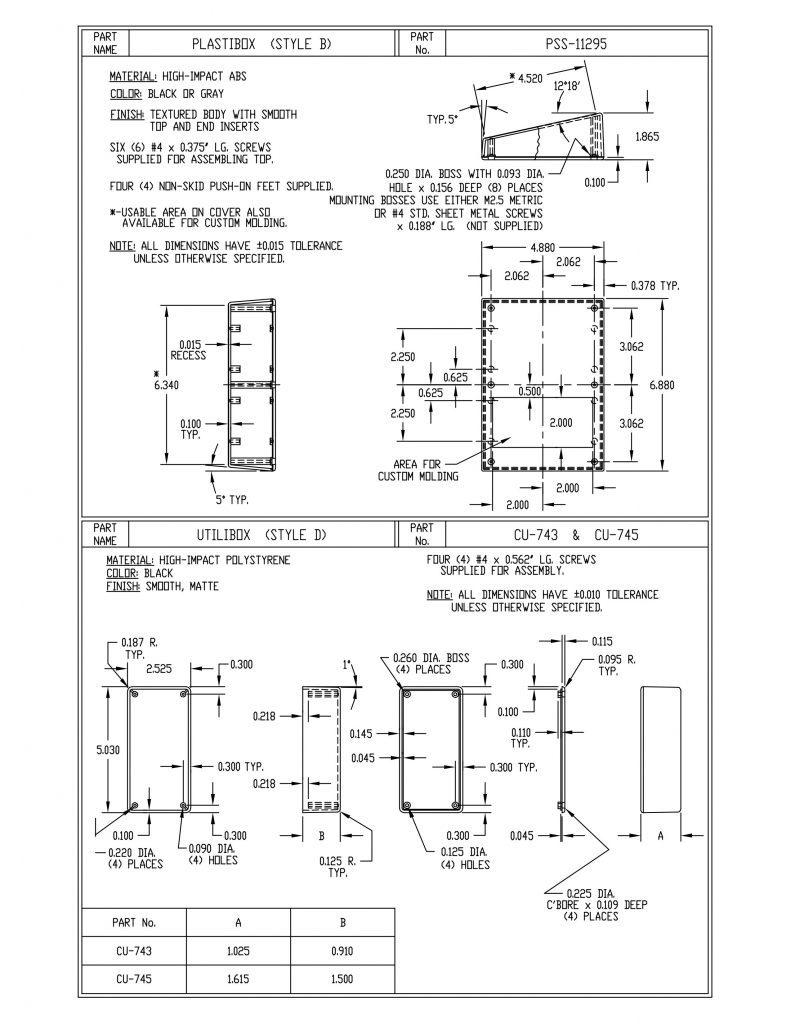 CU-743 Dimensions