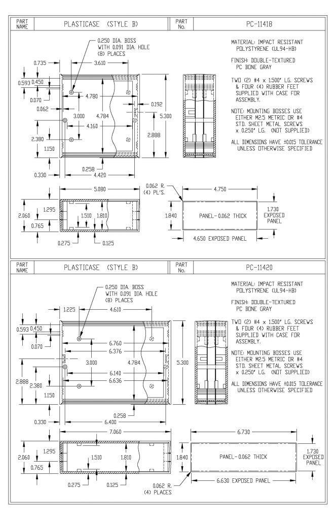 PC-11418 Dimensions