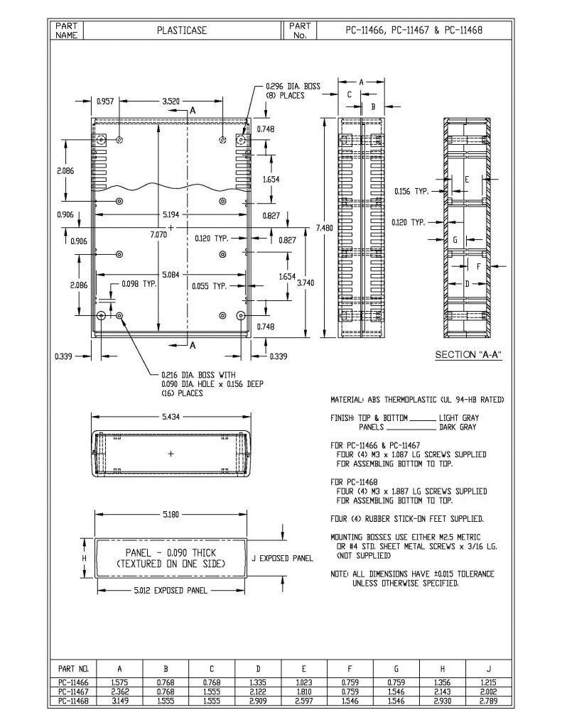 PC-11466 Dimensions