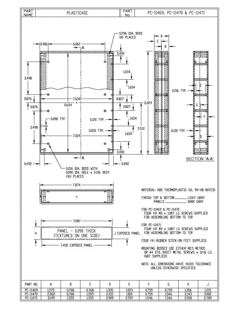 PC-11471 Dimensions