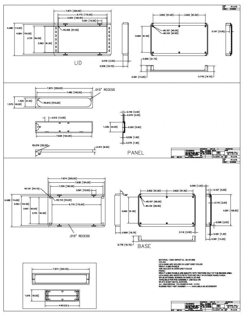 PC-11478 Dimensions