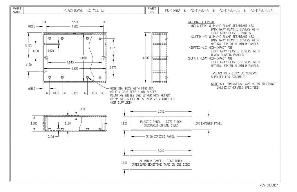 PC-11480-A Dimensions