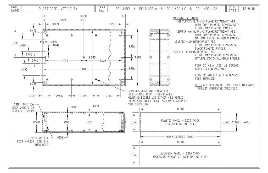 PC-11482-LG Dimensions