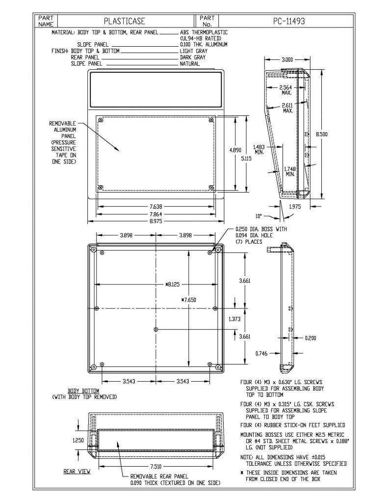 PC-11493 Dimensions