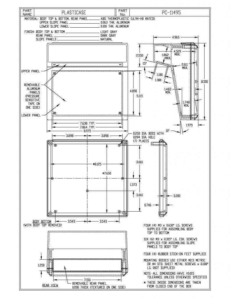 PC-11495 Dimensions