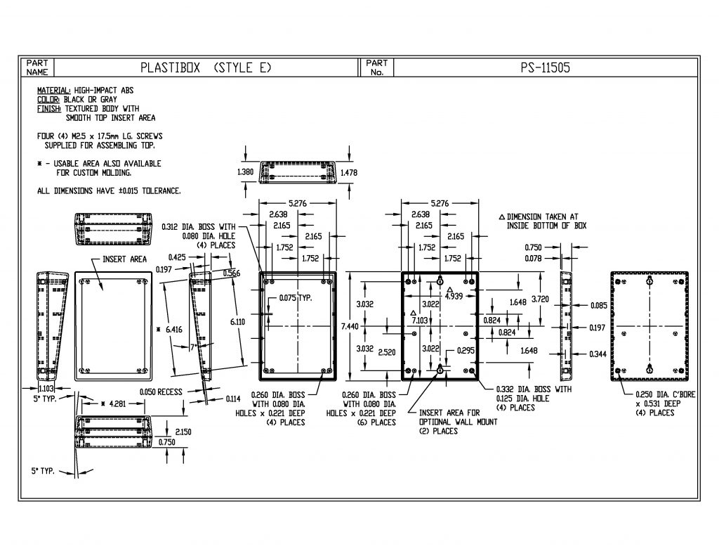 PS-11505-B Dimensions