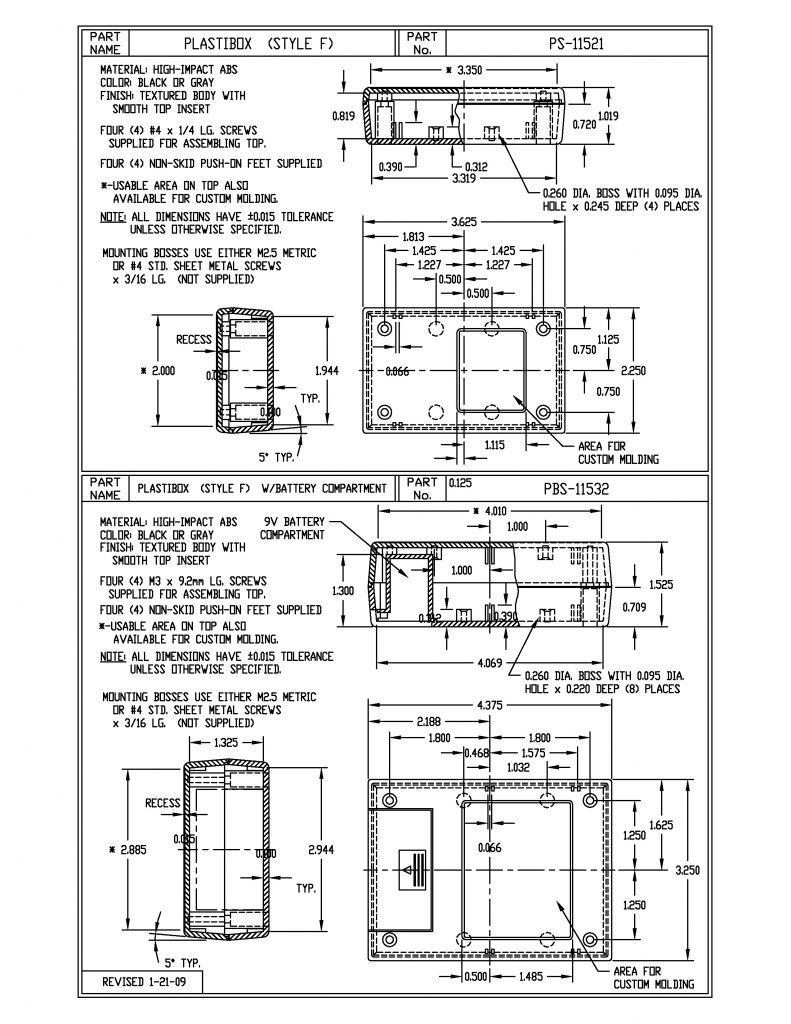 PBS-11532-B Dimensions