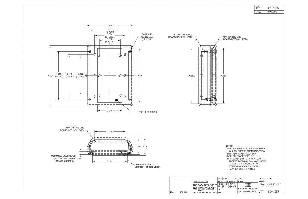 PC-11535 Dimensions