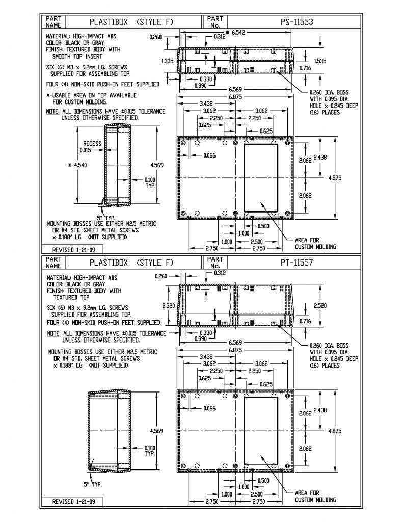PS-11553-B Dimensions
