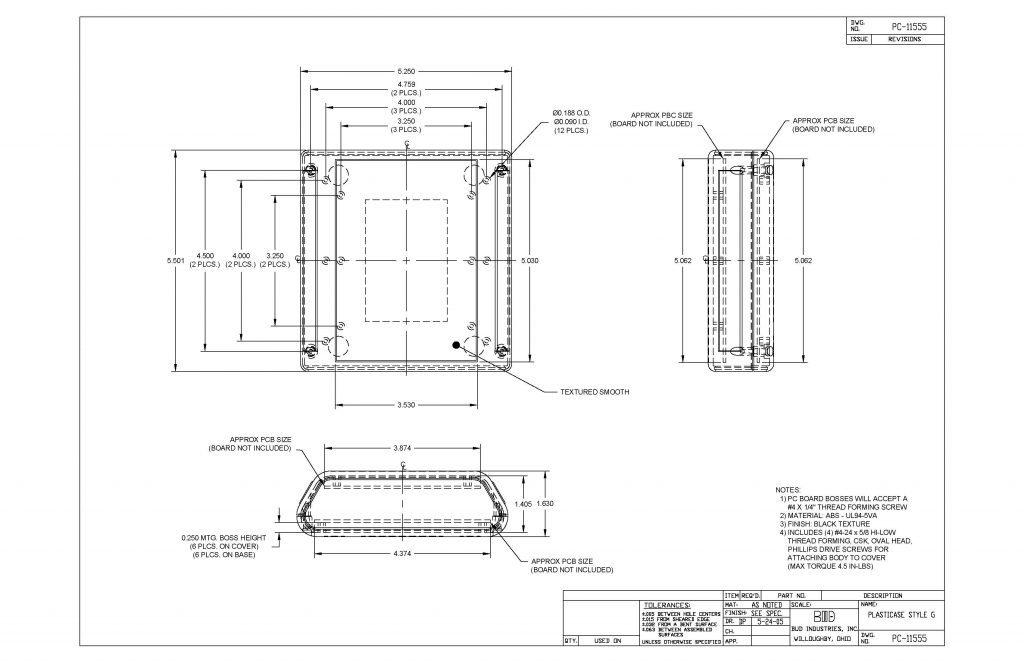 PC-11555 Dimensions