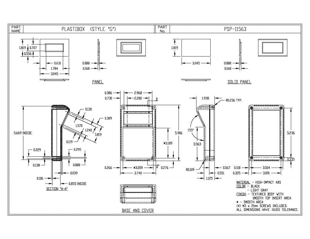 PSP-11563-B Dimensions