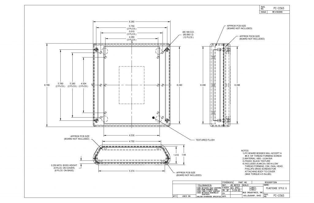 PC-11565 Dimensions