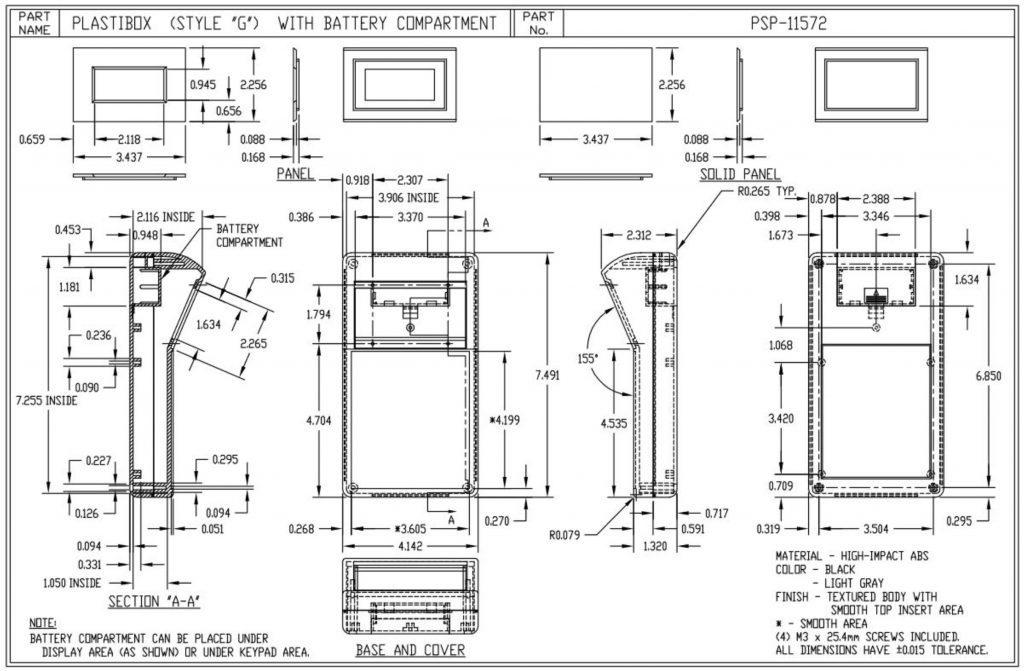 PSP-11572-G Dimensions