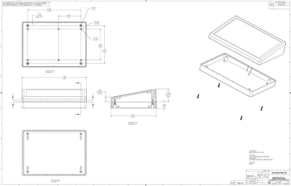 PT-11820 Dimensions
