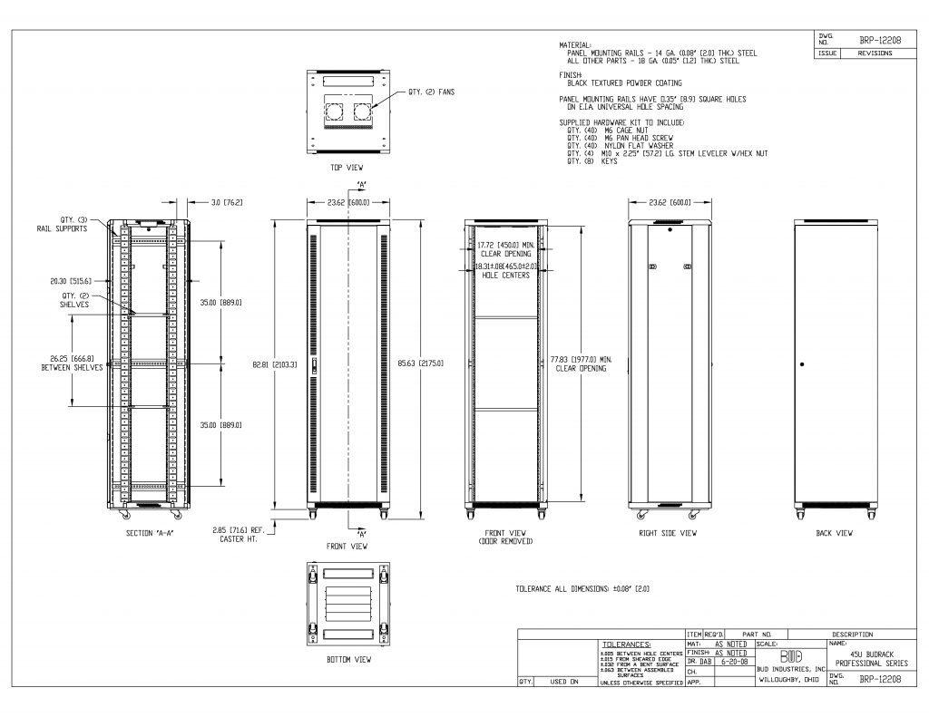 BRP-12208 Dimensions