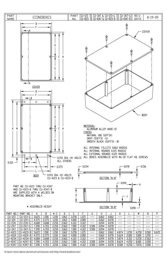 CU-124 Dimensions