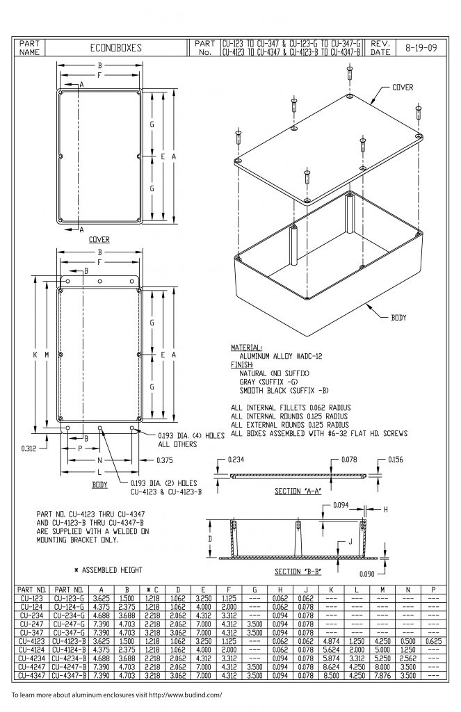 CU-4247 Dimensions