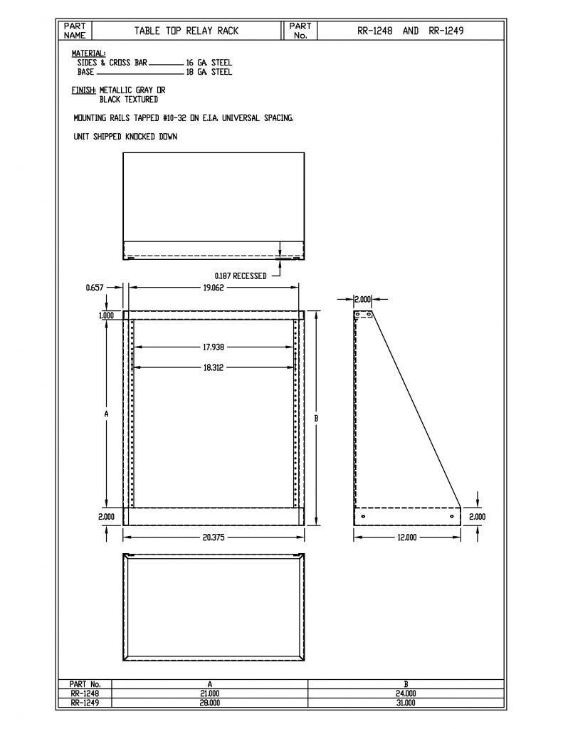 RR-1249-MG Dimensions